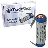 Trade-Shop Batería Ni-MH 1,2 V 2500 mAh para Wella Contura HS40 Tondeo Eco XS Black Velvet 3711 Silver 3268 Eco S 3108 Moser ChroMini 1591 Ermila Bella 1590