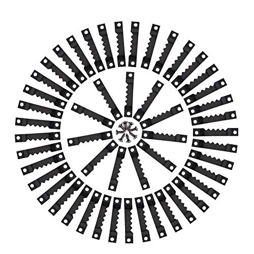 Idealeben 100er Bildaufhänger Zackenaufhänger mit Schrauben Sägezahn Aufhänger Doppel-Loch Bilderrahmenaufhänger für Bilderrahmen in Schwarz - 100 Stück