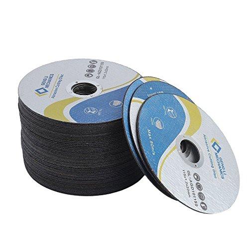 chengshiandebaihu Trennscheiben, 100 Stück Ø 115 mm 1 mm dünn für Flex, Trenn-und Winkelschleifer INOX Schneidscheiben Flexscheiben