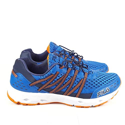 Fila Men's Sorrento Trail Running Sneaker EVA Comfort Footbed Shoe, Blue/Orange, Size 9.5