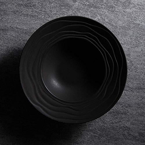 ZGQA-GQA Sombrero de Paja de cerámica Ins Vajilla Simple Desayuno Occidental Sopa de Placa de los Cubiertos de 10,5 Pulgadas