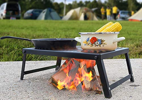Klappbarer Outdoor-Rost/Kochen & Braten über Lagerfeuer oder Feuerschale!