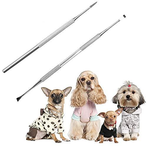 Symphonyw Zahnpflege-Set für Hunde, 2 Stück, Edelstahl