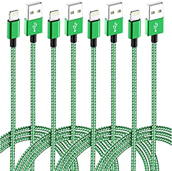 4-Pack IDiSON (10/6/6/3ft) MFi Certified Braided Nylon Fast Charger Cable