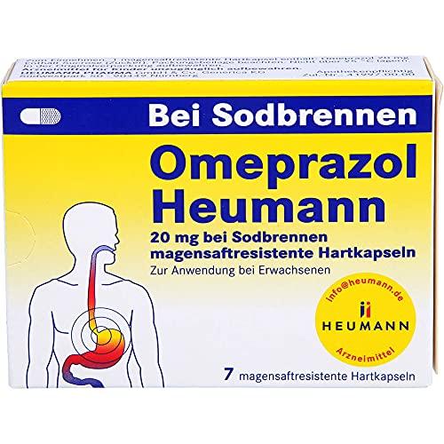 Omeprazol Heumann 20 mg Hartkapseln bei Sodbrennen, 7 St. Kapseln