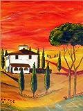 Poster 50 x 70 cm: Wärme der Toskana von Christine Huwer -