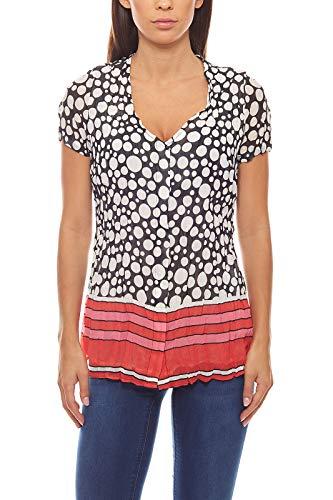 Druckbluse Damen-Bluse Crash-Optik Shirt Schwarz Patrizia DINI, Größenauswahl:38