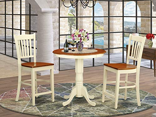 3 Pc counter height Dining room set - high top table and 2 Dining chairs.