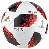 adidas Balón de fútbol para Hombre de la Copa Mundial de Fútbol de FIFA, Color Blanco, Rojo y Negro, 4
