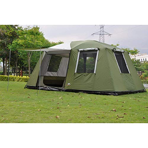 Outing Udstyr, Tent Outdoor Portable Camper Trailer Self-Driving Rainproof Awning Beach Canopy Aluminum Tent Large Gazebo Sun Shelter, Kejing Miao, YellowFiberglass Rod