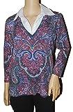 Evan Picone Women's Nolita Sweater in Paisley (Large)