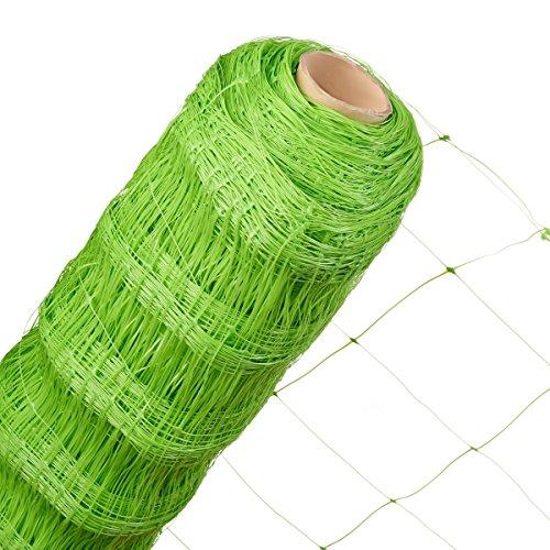 HaGa® Ranknetz 1,7m x 20m Masche 140mm Rankhilfe Kletterpflanzen Gartennetz Netz