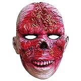 Máscara de gusano sangriento de miedo, máscara de demonio, horror para Halloween, cosplay, disfraz de fiesta para adultos