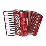 M-zutx Instrumento musical for principiantes Acordeón for piano 25 teclas 12 bajos Acordeón for niños Principiante for adultos Acordeón for interpretación Acordeón solista Acordeón multipropósito