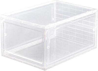 Gymoning Caja de Almacenamiento de plástico Transparente para Zapatos de Botas, apilable, Organizador para el hogar: Amazon.es: Hogar