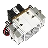 FairytaleMM DC12V 108W Ventilateur de radiateur en Aluminium à Semi-conducteur Réfrigérateur à Effet Peltier Électronique, Petit climatiseur (Argent et Noir)