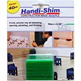 Handi-Shim, Green HS13240GR Plastic Construction Shims/Spacers, 40 Pack, 1/32-Inch, 40