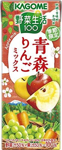 野菜生活100 青森りんごミックス 195ml×24本 紙パック