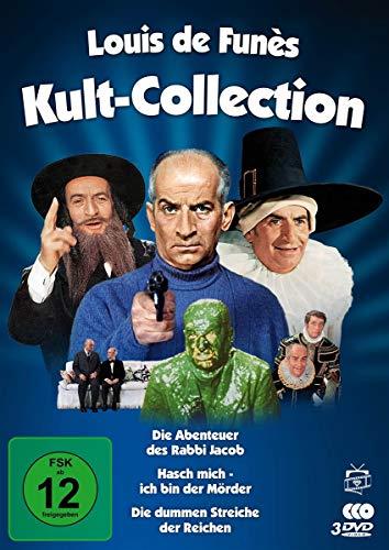 Louis de Funes - Kult-Collection (Hasch mich - ich bin der Mörder / Die Abenteuer des Rabbi Jacob / Die dummen Streiche der Rei