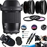Sigma 16mm f/1.4 DC DN Contemporary Lens for Sony E - Deal-Expo Advanced Bundle