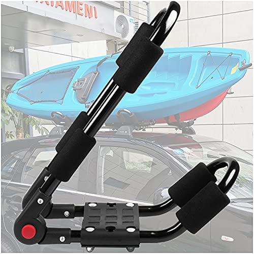 CHENGNAN Plegable Portaequipajes para Kayak Universal Fijo Soporte Resistente para Transporte de Coche con 2correas Espuma protección