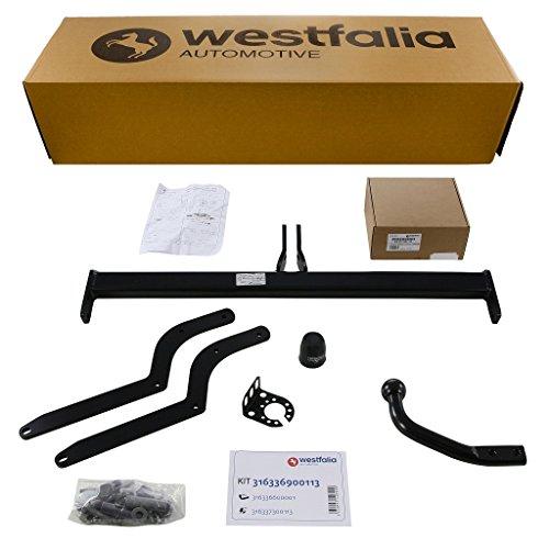 Westfalia Starre Anhängerkupplung für Renault Clio IV Grandtour (BJ ab 03/13) im Set mit 13-poligem fahrzeugspezifischen Westfalia Elektrosatz