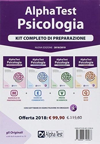 Alpha Test. Psicologia. Kit completo di preparazione: Manuale di preparazione-Esercizi commentati-Prove di verifica-6000 quiz. Con software