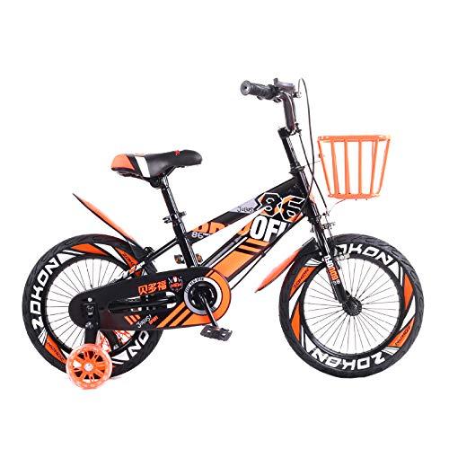 MXSXN Bici per Bambini per Ragazzi E Ragazze da 3-4 Anni BMX Balance Bike 12/14/16/18 Pollici Bici per Bambini con Freni Gomme Pneumatiche Bici per Bambini,18'