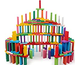 small 120 Dominos New creative top wooden blocks, educational toys for children, domino lace …