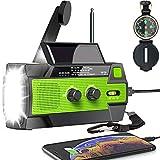 Best Crank Radios - 【2021 Upgraded】Emergency Solar Hand Crank Radio, 4000mAh Portable Review