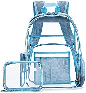 NiceEbag Heavy Duty Clear Backpack Stadium Approved Transparent Backpack