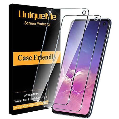 [2 pièces] UniqueMe Protection écran compatible avec Samsung Galaxy S10e,[Dureté 9H] [Sans Bulle]Ultra Résistant Vitre Film Verre Trempé compatible avec Samsung Galaxy S10e