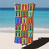 Arkwright LLC Velour Printed Beach Towel, 100% Cotton Super...
