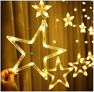 2.5M LED Star Lights, Curtain String Lights for Bedroom, 8 Lighting Modes, Waterproof Fairy Lights for Bedroom, Wedding, P...