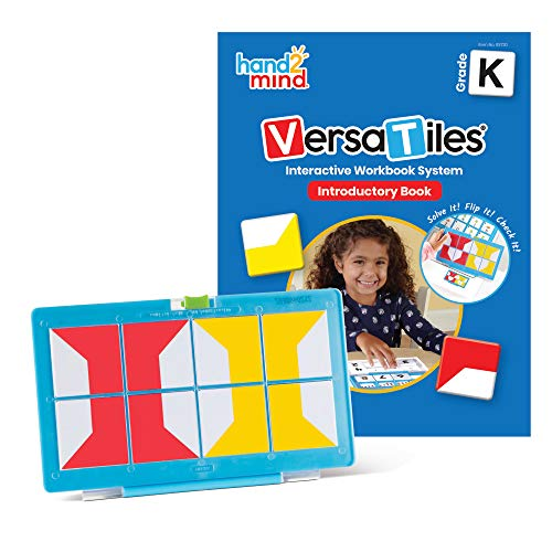 hand2mind VersaTiles Introductory Kit for Kindergarten, Activity Book Covers Reading, Math & Science, Interactive Puzzle Learning for Kids, Independent Learning Workbook, Homeschool Workbook