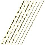 Sutemribor Brass Solid Round Rod Lathe Bar Stock, Diameter 1/8 Inch+3/16...