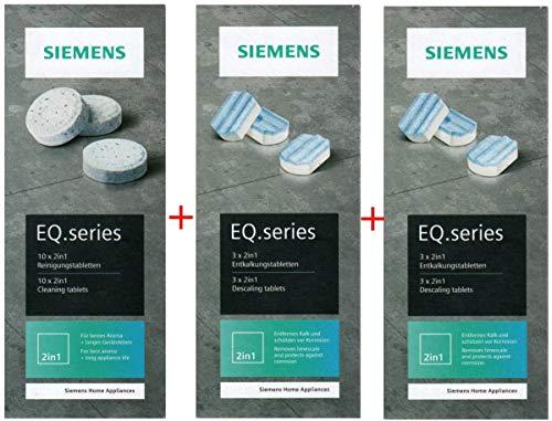 SIEMENS 10 Reinigungstabletten TZ80001N + 6 Entkalkungstabletten TZ80002N für EQ