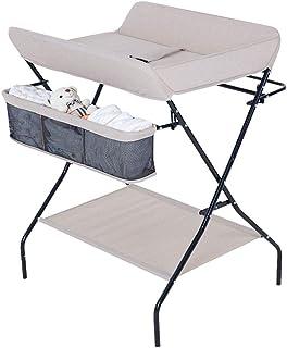 新生児ベビーチェンジおむつテーブル折り畳み式ベビーケアタッチテーブル多機能ドレッシングマッサージコンソールテーブル