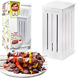 Brochette Express Kebab Kitchen Tool - 16 Stainless Steel Barbecue Skewers for Making Kabobs - Made in the USA