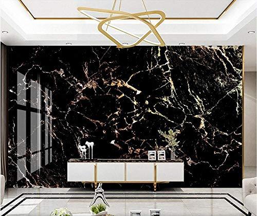3D vliesbehang foto vlies premium fotobehang behang zwart goud marmer papier voor hotel doek papier muurkunst kwaliteit 3D baksteen muurschildering 350*245 350 x 245 cm.