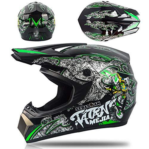 Motorfiets off-road helm batterij autohelm mountainbike volledige helm lichtgewicht veiligheidshelm-Ghost locomotief Lichte, comfortabele en veilige helm_XL
