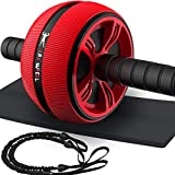 Bssay Ab Roller, Home Abdominal Exercise Equipment Core Workout Machine Wider Ab Roller Wheel with Resistant Band