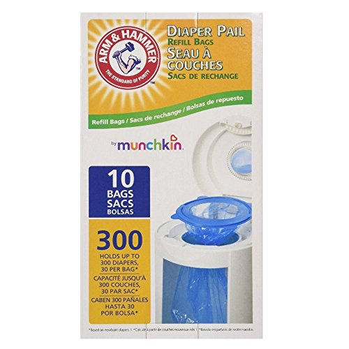 Munchkin Arm & Hammer Diaper Pail Refill Bags, 10-Count by Arm & Hammer (English Manual)