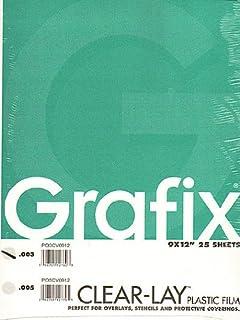 بديل خلات الطلاء الشفاف 23 سم من جرافيكس × 30 سم. .003 وسادة سميكة 25