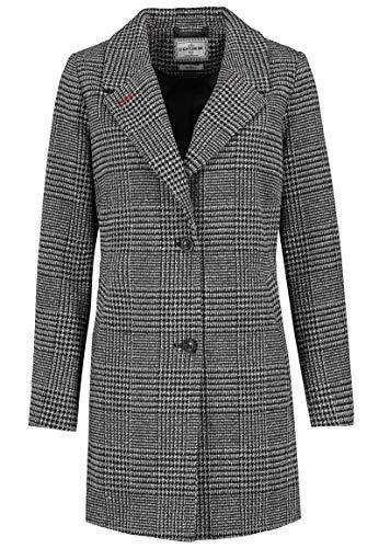 Eight2Nine Damen Business Mantel im Karo Design kariert Black L
