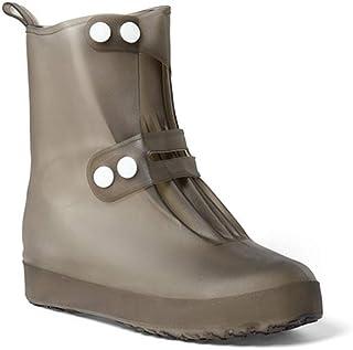 DJiess Copriscarpe impermeabili Stivali da pioggia antiscivolo riutilizzabili trasparenti Copriscarpe Protezione dell'acqu...