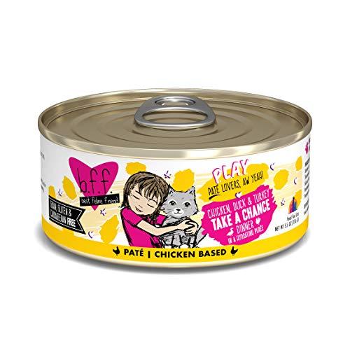 B.F.F. PLAY - Best Feline Friend Paté Lovers, Aw Yeah!, Chicken, Duck & Turkey Take a Chance with Chicken, Duck & Turkey, 5.5oz Can (Pack of 8)