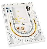 Rayher 8902900 plateau pour perles, p. conception de bijoux, 23x33cm, gris clair