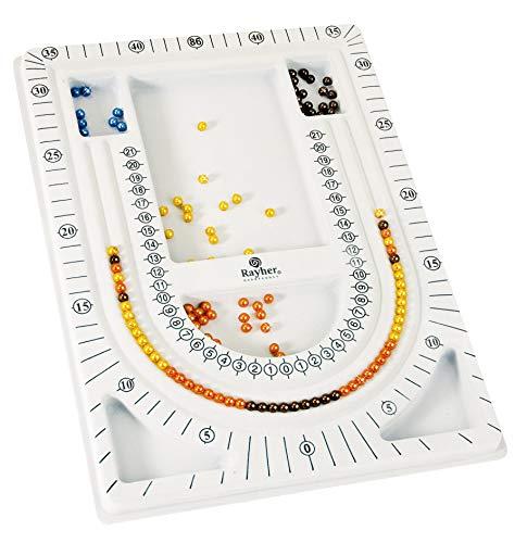 RAYHER 8902900 Design Platte für Perlen, 23 x 33 cm