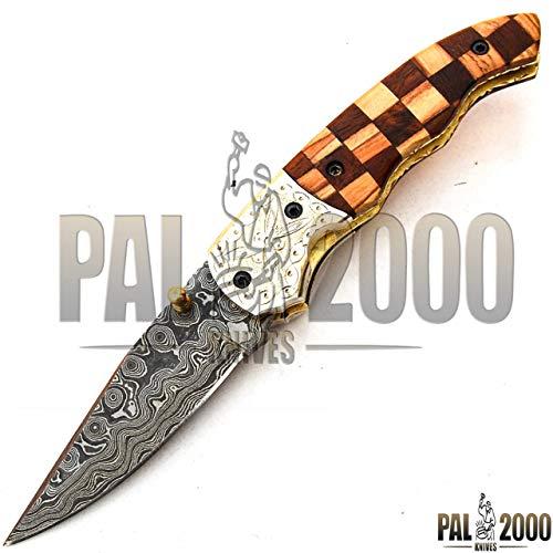 PAL 2000 KNIVES Fatto handgesmeed handgesmeed handmes mes mes damaststaal met schede 9615